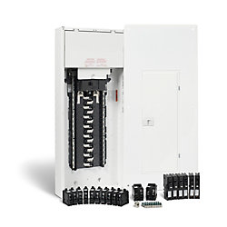 HomeLine 200 Amp, 30 Spaces/60 Circuits Max. Arc Fault Plug-On Neutral Panel Package With Breakers