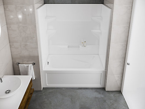 two piece tub shower. Cascade 2 Piece Left Hand Domeless Bath and Shower Kit Tub Showers  The Home Depot Canada