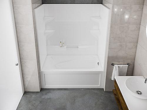 2 Piece Tub Shower Home Design Plan