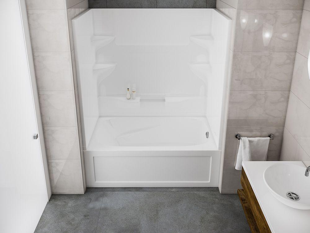 Cascade - Baignoire-douche deux pièces sans dôme � installation à droite