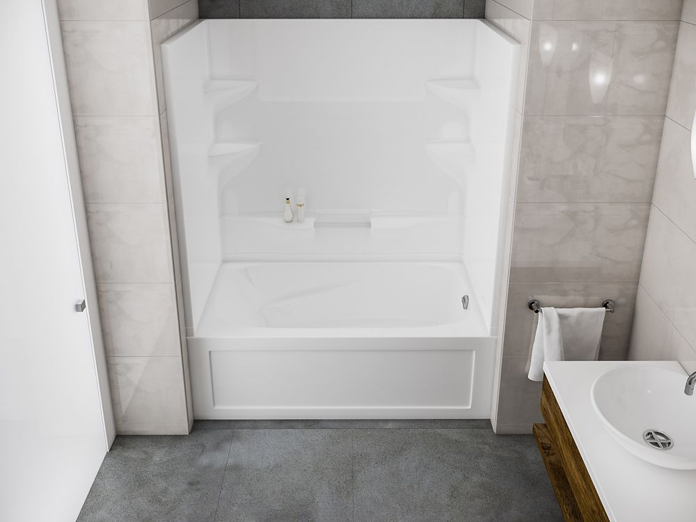home shower inch en depot p bath x showers acrylic the liberty categories shelf canada tub