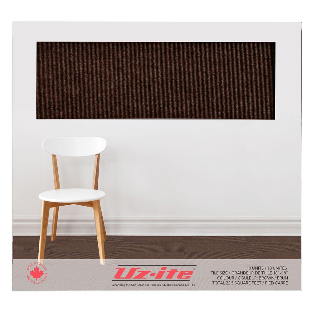 Tuiles de tapis utilitaire (10 par boîte)