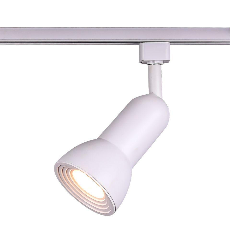 LED Medium Step Linear Track Head White Finish