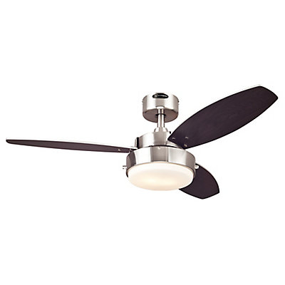 Westinghouse alloy 42 inch indoor brushed nickel ceiling fan the alloy 42 inch indoor brushed nickel ceiling fan aloadofball Images