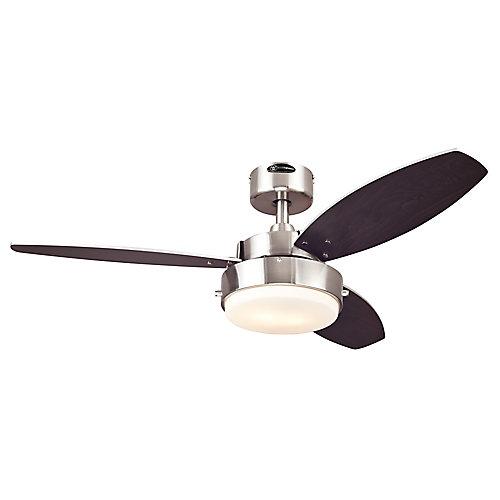 """Ventilateur de plafond ALLOY 42"""" au fini d'acier brossé"""