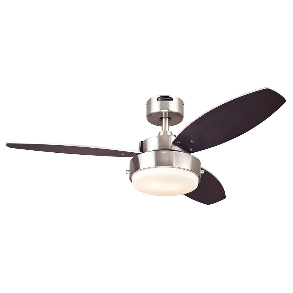 Alloy 42 in. Indoor Brushed Nickel Finish Ceiling Fan