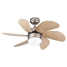 Turbo Swirl 30-inch Brushed Aluminum Ceiling Fan