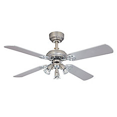 City Lights II 42-inch Dark Pewter & Chrome Ceiling Fan