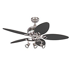 Xavier 44-inch Brushed Nickel Ceiling Fan