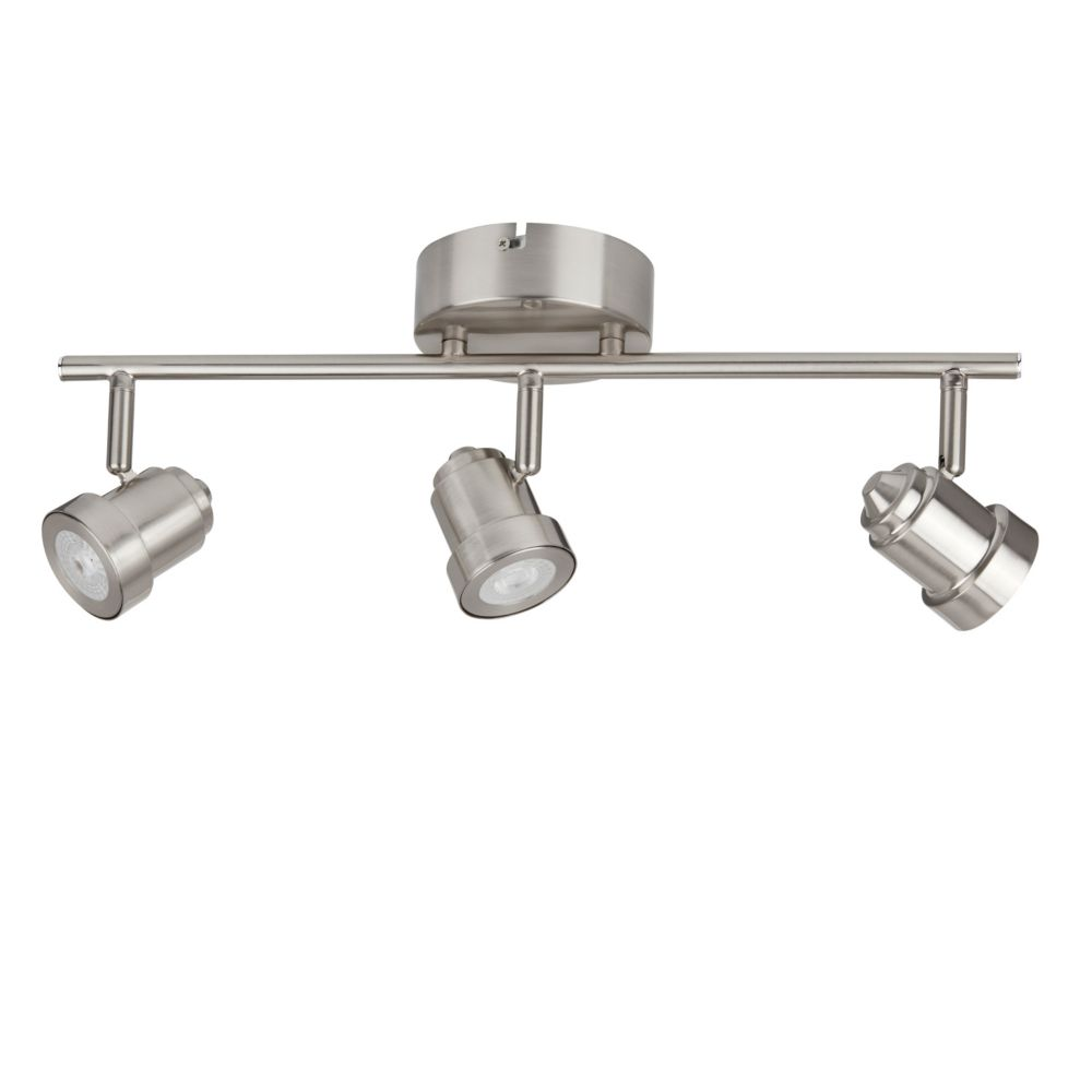 Track lighting led modern industrial more the home depot canada 3 light led directional track light in brushed nickel aloadofball Choice Image