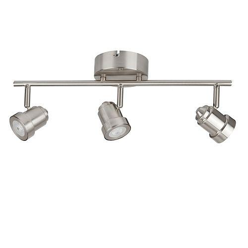 Hampton Bay 3-Light LED Directional Track Light in Brushed Nickel - ENERGY STAR®