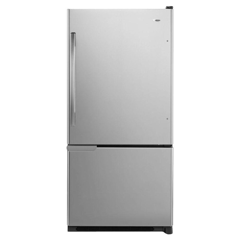 Amana 29-inch W 18 cu.ft Bottom-Freezer Refrigerator in Stainless Steel