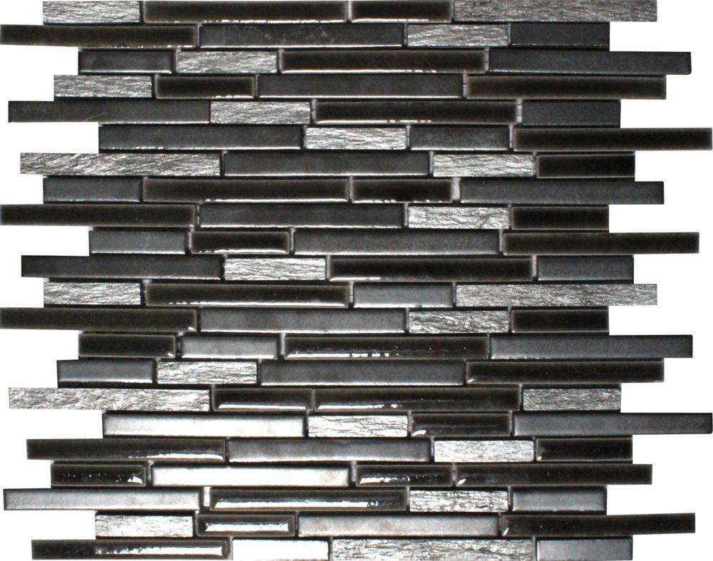 Titan Interlocking 12  Inch.  X 12  Inch.  X 8 Mm Porcelain Stone Mesh Mounted Mosaic Tile (10 Sq...