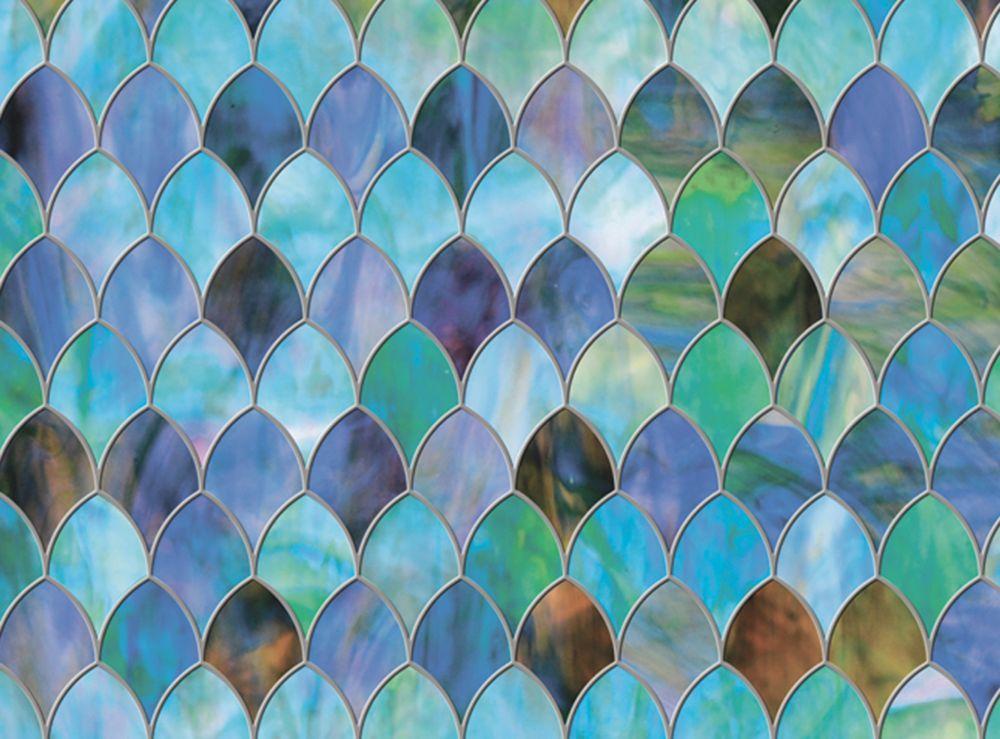 Brewster Home Fashions Peacock Window Premium Film