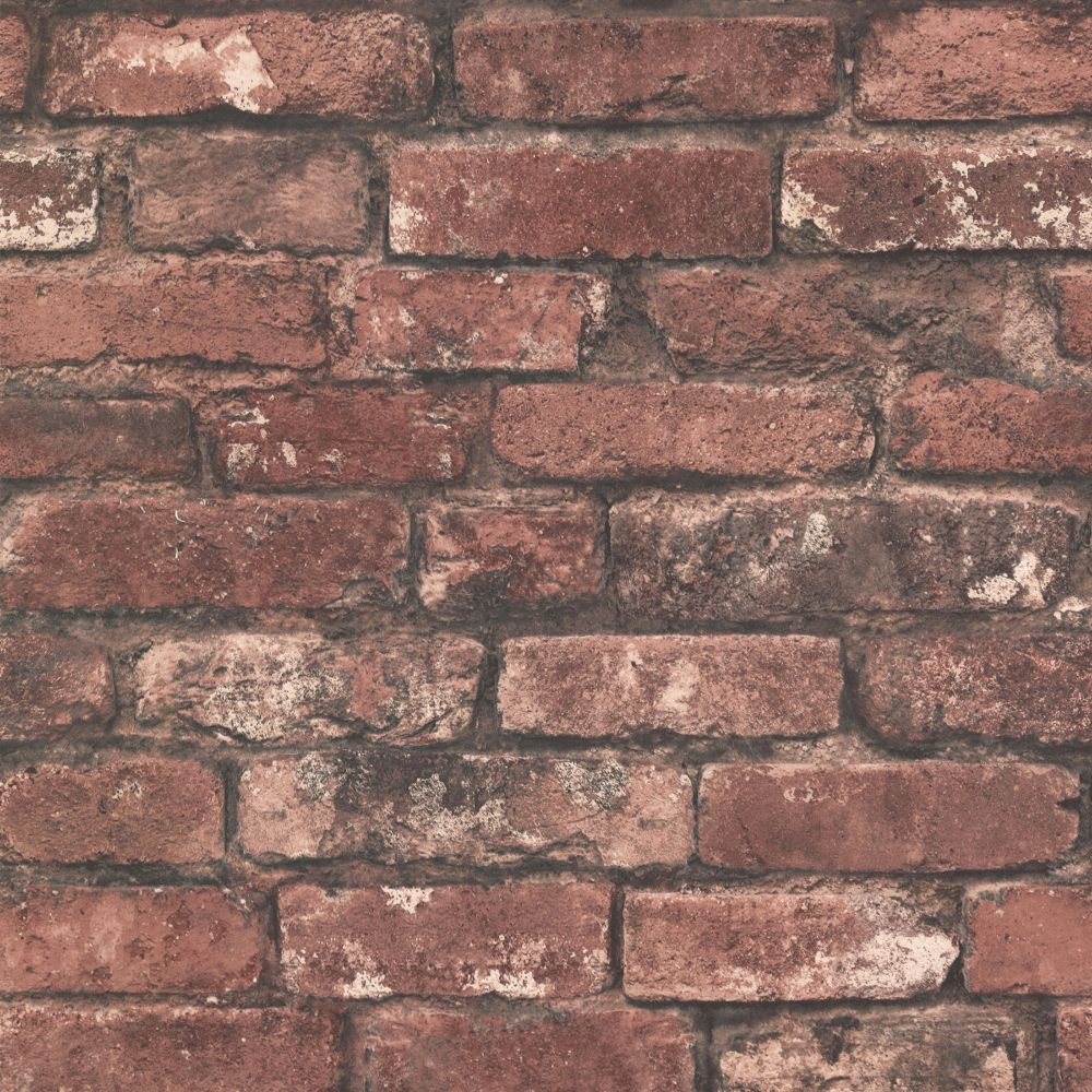 Brickwork Rust Exposed Brick Texture Wallpaper