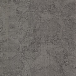 Beacon House Cartography Pewter Vintage World Map Wallpaper   The ...