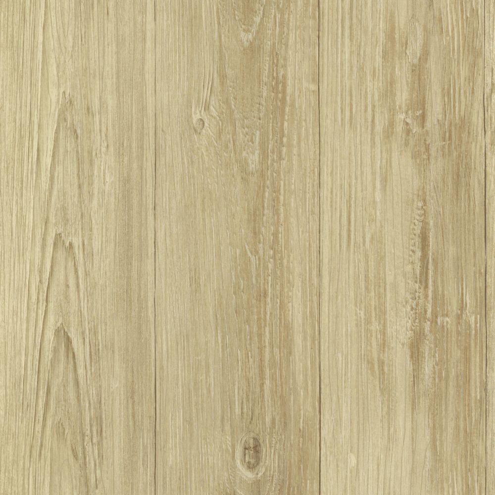 Cumberland Wheat Faux Wood Texture Wallpaper