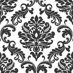NuWallpaper Ariel Noir & Blanc Damask Peler et Coller Papier Peint