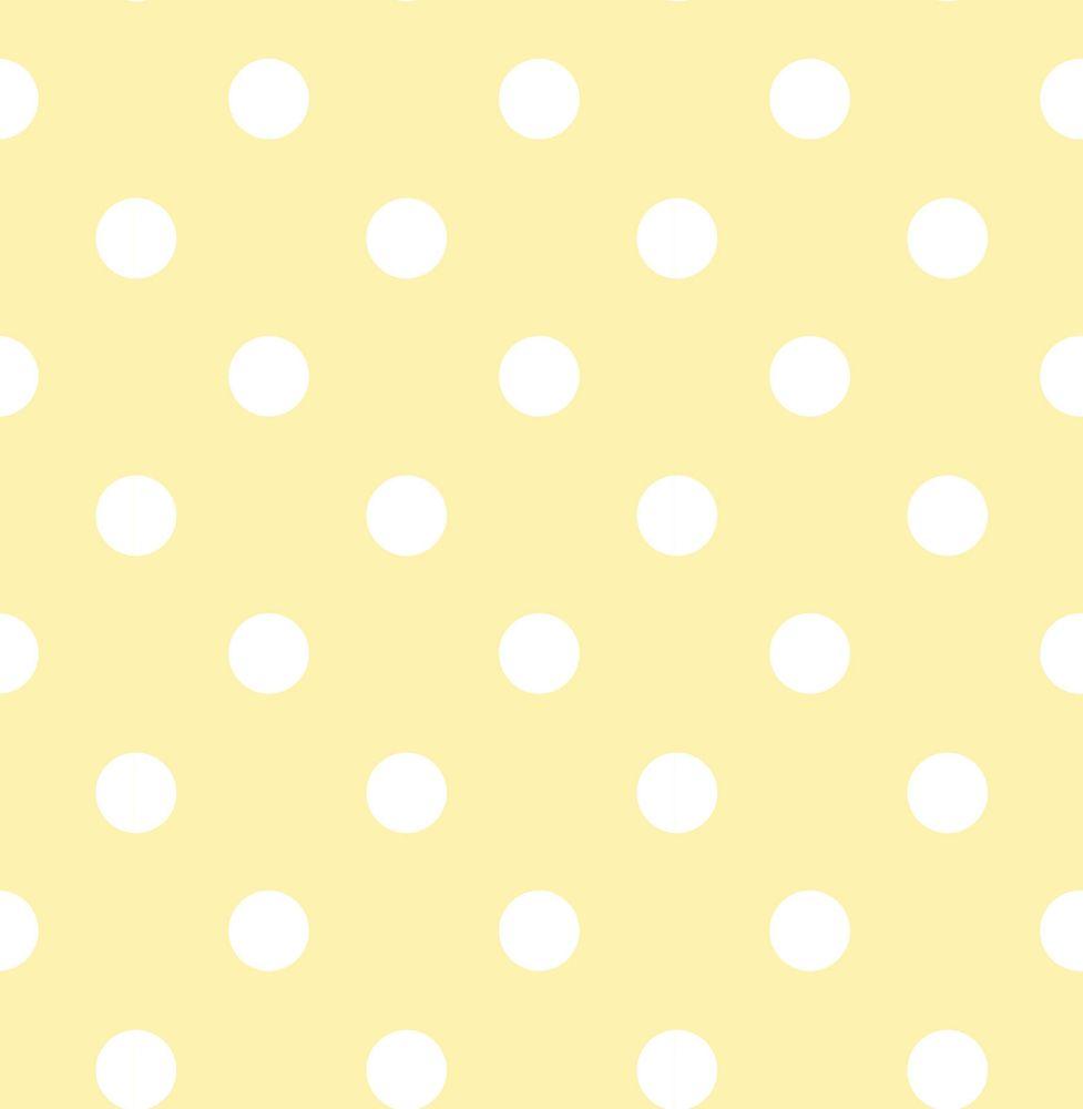 Yellow Dottie Peel And Stick Wallpaper