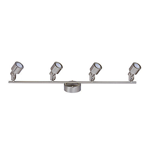 4-Light Integrated LED Directional Track Light in Brushed Nickel - ENERGY STAR®