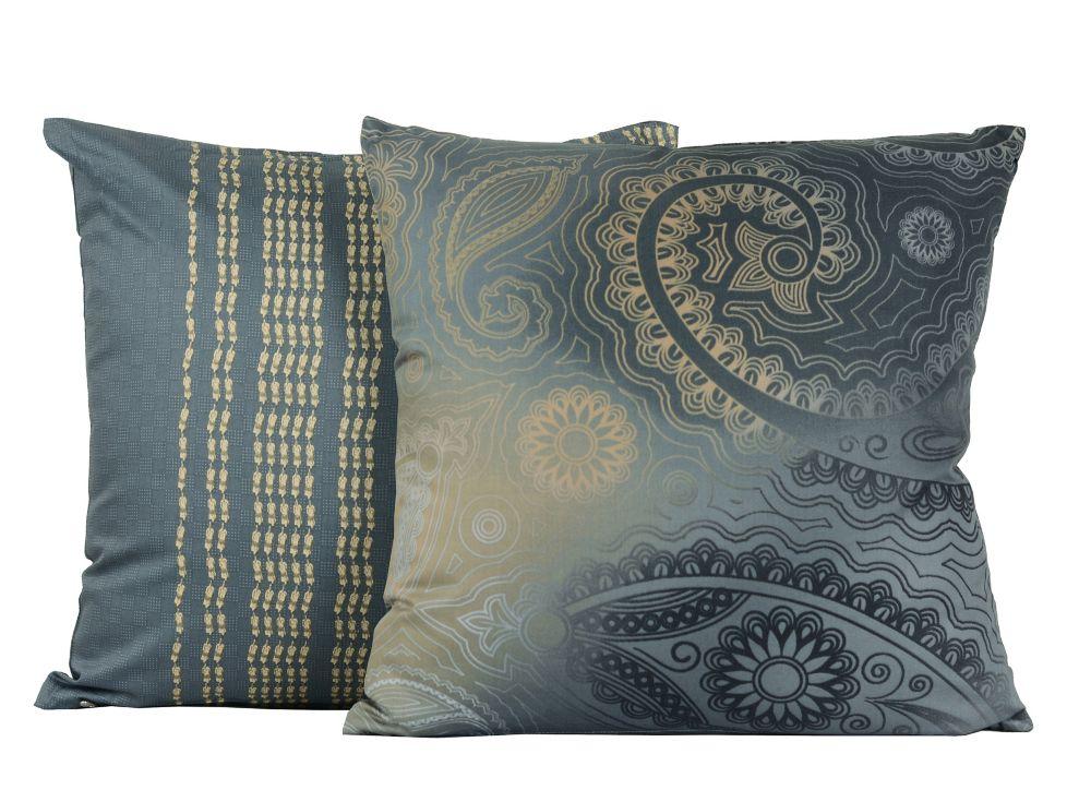 Kalina 17-in Square Cotton 2-Pack Decorative Cushion Set