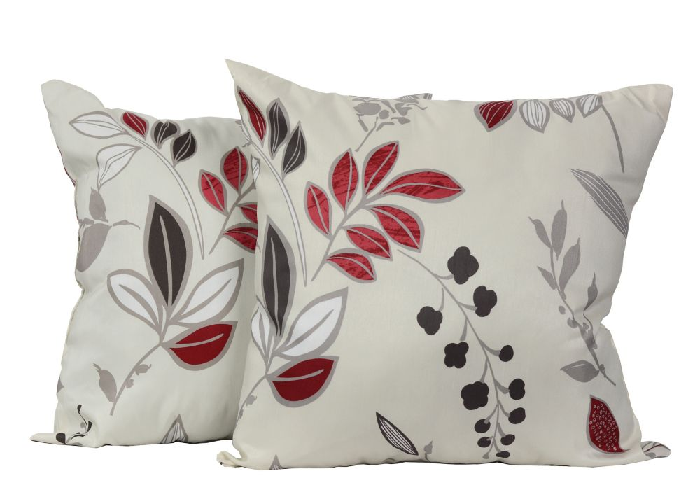 Gala 17-inch Square Floral 2-Pack Decorative Cushion Set