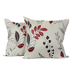 2084a0e219b683 Gala Floral Throw Cushions (Set of 2) 17-in Square