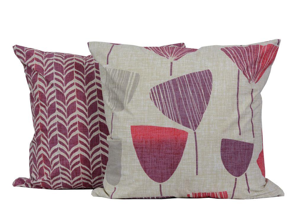 Zees Floral/Zigzag 18-inch Square 2-Pack Decorative Cushion Set