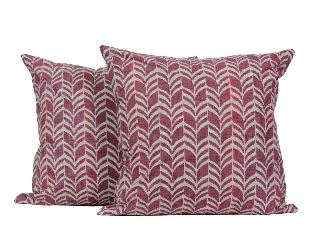 Zigzag 18-inch Square 2-Pack Decorative Cushion Set