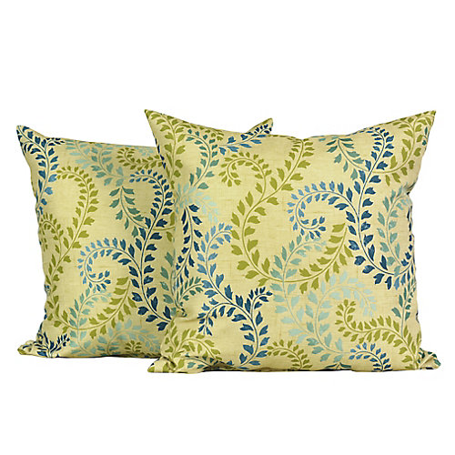 Gaille Floral 17-inch Square Decorative Cushion Set (2-Pack)