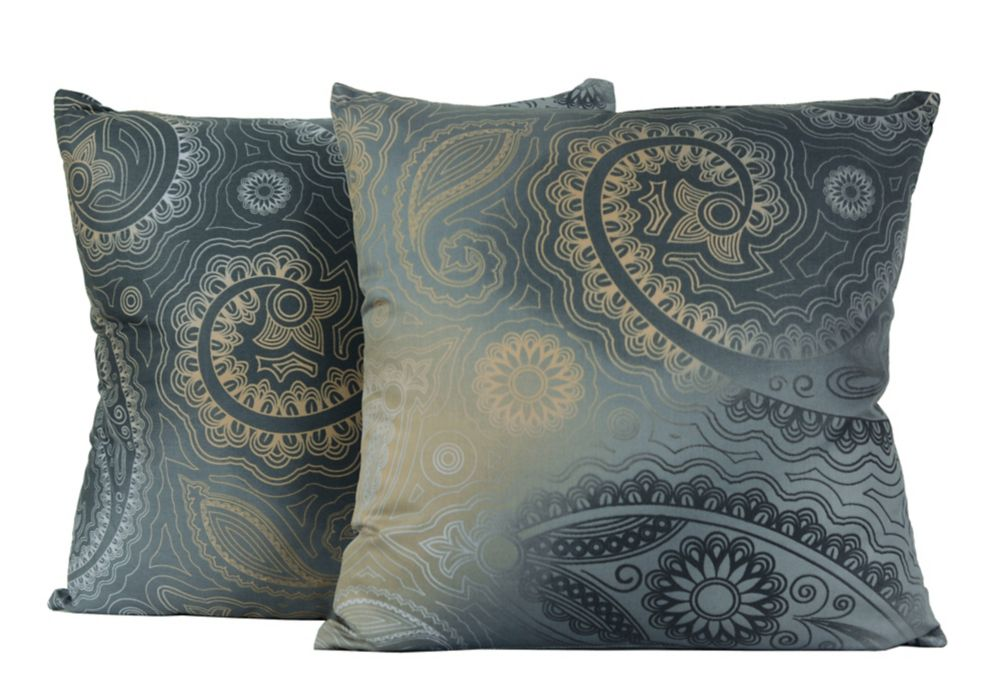 Gypsy 17-inch Square Cotton Decorative 2-pack Cushion Set