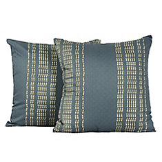 291a2e7838a Rapture Geometric Tile Print Cotton Throw Cushions (Set of 2) 17-in Square