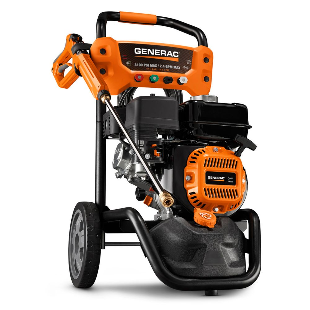 home depot pressure washers generac 3100 psi 2 4 gpm gas pressure washer with variable 28665