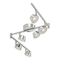 6 Light LED Chrome Fixed Track - ENERGY STAR®