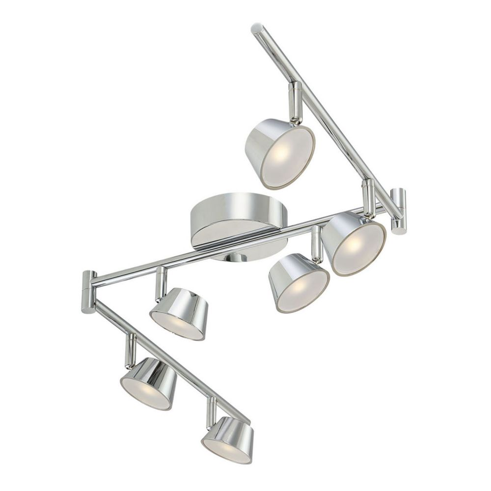 Track lighting the home depot canada 6 light led chrome fixed track mozeypictures Choice Image