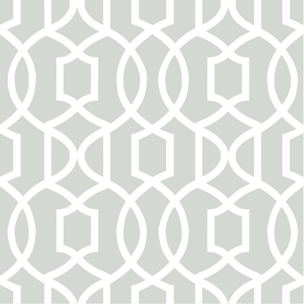 Gray Grand Trellis Peel And Stick Wallpaper