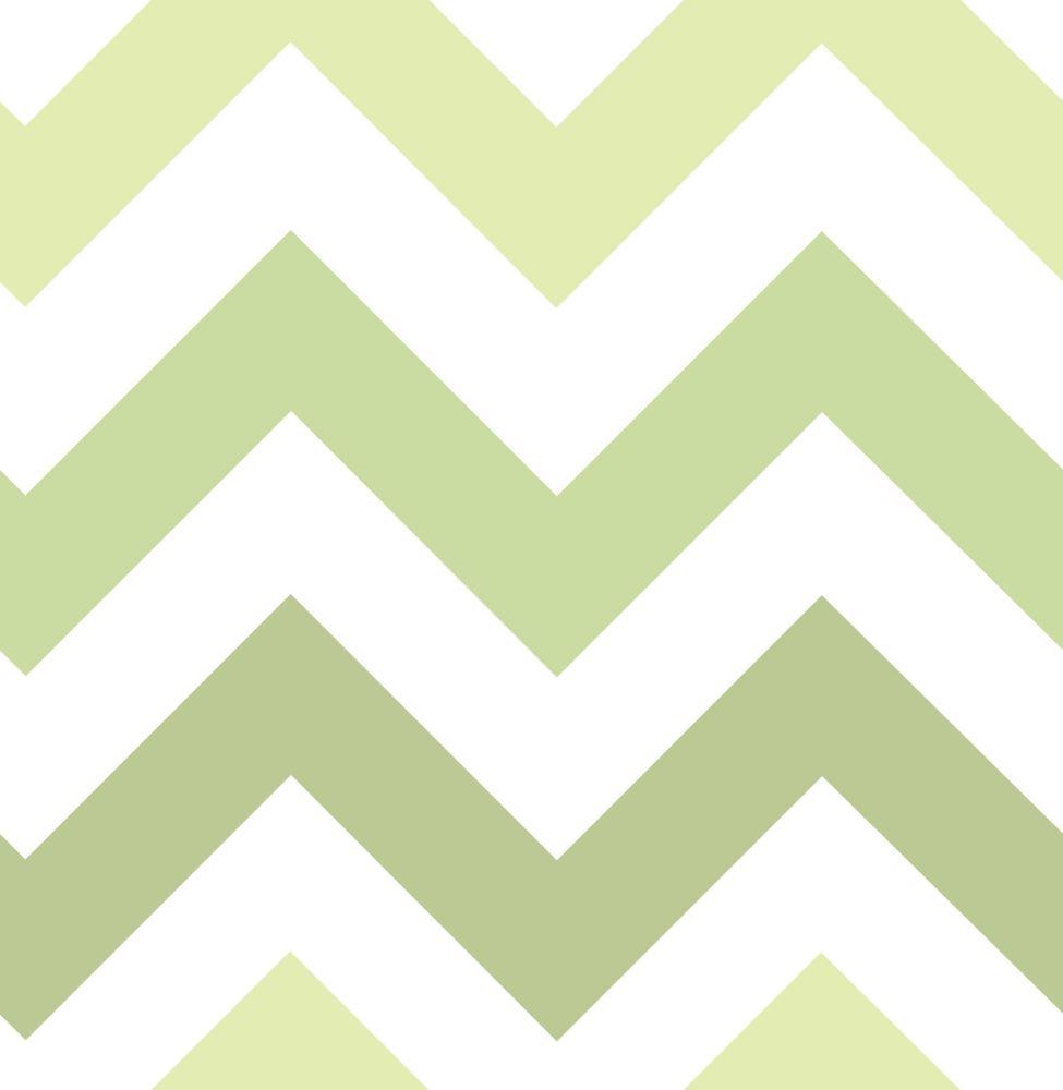 Green Zig Zag Peel And Stick Wallpaper