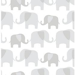 NuWallpaper Gray Elephant Parade Peel And Stick Wallpaper