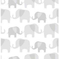 NuWallpaper Éléphant Parade Gris Peler et Coller Papier Peint