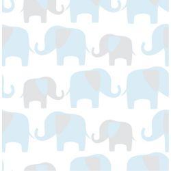 NuWallpaper Éléphant Parade Bleu Peler et Coller Papier Peint