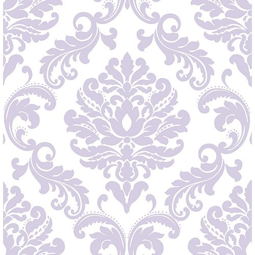 NuWallpaper Purple Ariel Peel And Stick Wallpaper