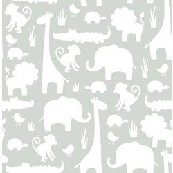 NuWallpaper Son une jungle ici Gris Peler et Coller Papier Peint