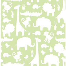 NuWallpaper Son une jungle ici Vert Peler et Coller Papier Peint