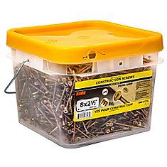 #8 x 2-1/2 -inch Yellow Zinc Construction Screws (2500-piece)