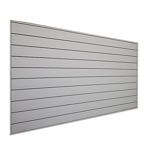 Track Wall 32 sq. ft. Wall Storage Kit in Pale Silver