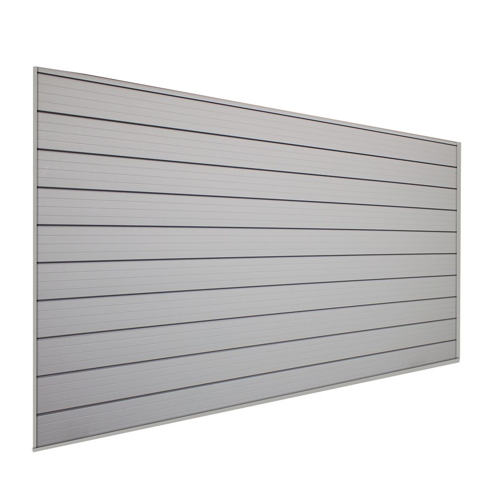 HUSKY Track Wall 32 sq. ft. Wall Storage Kit in Pale Silver