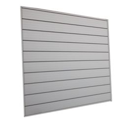 HUSKY 16 sq. Feet (4 Feet x 4 Feet) Track Wall Kit, Pale Silver