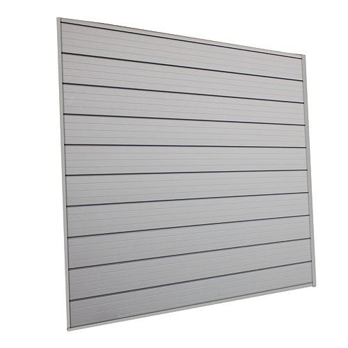 Husky 16 sq. Feet (4 Feet x 4 Feet) Track Wall Kit, Pale Silver
