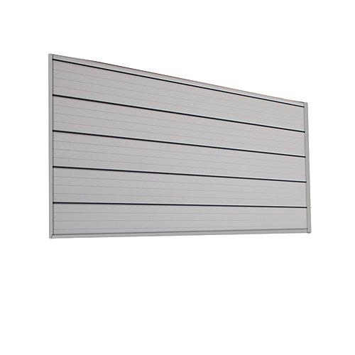 8 sq. Feet (4 Feet x 2 Feet) Track Wall, Pale Silver