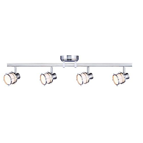 Hampton Bay 4-Light Pewter Integrated LED Track Lighting Fixture